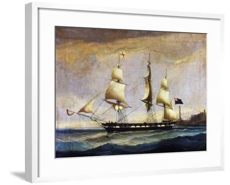 Sardinian Frigate from the 2nd Half of 19th Century, Painting, Italy, 19th Century--Framed Art Print