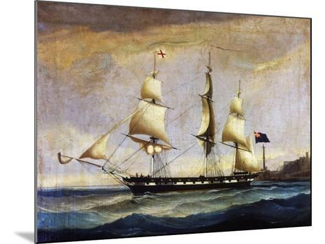 Sardinian Frigate from the 2nd Half of 19th Century, Painting, Italy, 19th Century--Mounted Giclee Print