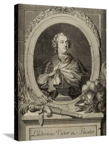 Louis XV of France (1710-1774). King of France and Navarre.. 19th Century--Stretched Canvas Print