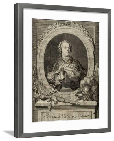Louis XV of France (1710-1774). King of France and Navarre.. 19th Century--Framed Art Print