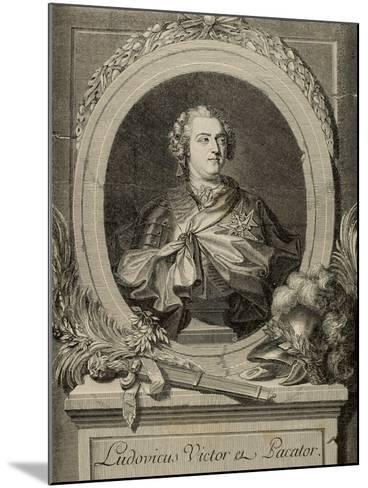 Louis XV of France (1710-1774). King of France and Navarre.. 19th Century--Mounted Giclee Print