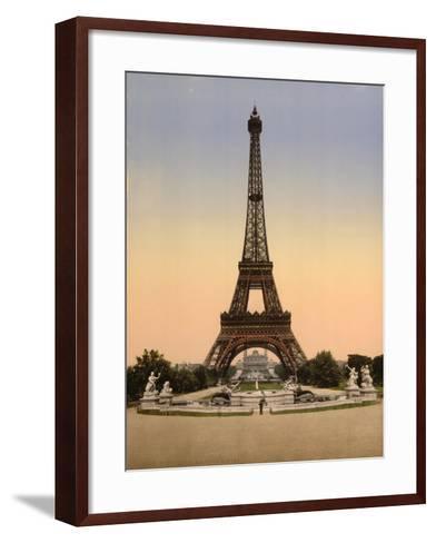 Eiffel Tower, Full-View, Looking Toward the Palais Du Trocadéro, Paris, France, C.1890-C.1900--Framed Art Print