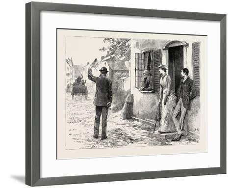 Visit of the Emperor of the French to the Royal Yacht, at Boulogne, 1854--Framed Art Print