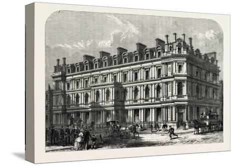 The New Union Bank Buildings, Carey Street and Chancery Lane, London, UK, 1865--Stretched Canvas Print