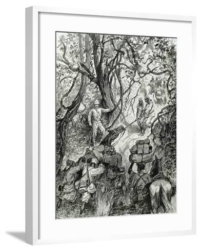 French Expedition Opens Way into the Nieniya Mountains, Sudan, 1893.--Framed Art Print