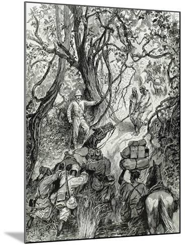 French Expedition Opens Way into the Nieniya Mountains, Sudan, 1893.--Mounted Giclee Print