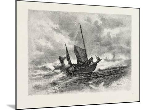 Nova Scotia, Fishermen Landing in a Gale, Canada, Nineteenth Century--Mounted Giclee Print