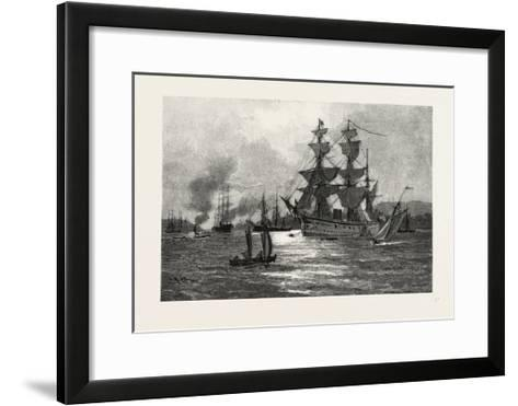 Nova Scotia, Men-Of-War, Halifax Harbour, Canada, Nineteenth Century--Framed Art Print