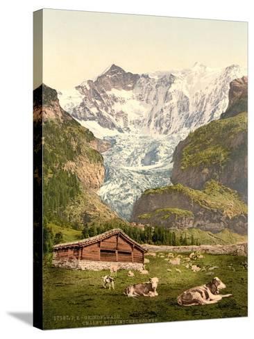 Grindelwald, Chalet and Vischerhorn, Bernese Oberland, Switzerland, C.1890-C.1900--Stretched Canvas Print
