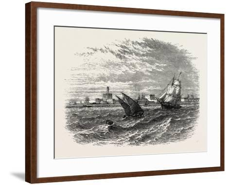 View of Alexandria (From the Sea). Egypt, on the Coast of the Southern Mediterranean--Framed Art Print