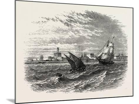 View of Alexandria (From the Sea). Egypt, on the Coast of the Southern Mediterranean--Mounted Giclee Print