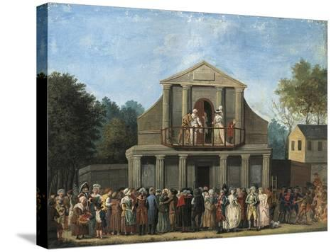 Paris, Farcical Scene in Front of Saint-Laurent Fair Theatre by Unknown Artist--Stretched Canvas Print
