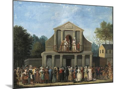 Paris, Farcical Scene in Front of Saint-Laurent Fair Theatre by Unknown Artist--Mounted Giclee Print