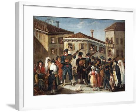 Masquerade Concert, Painting by an Unknown Venetian Artist, 18th Century--Framed Art Print