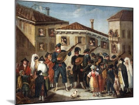 Masquerade Concert, Painting by an Unknown Venetian Artist, 18th Century--Mounted Giclee Print