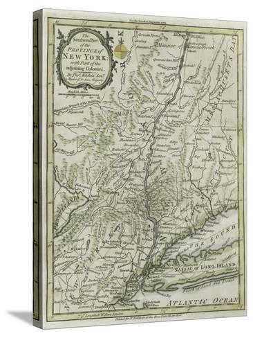 The Southern Part of the Province of New York, with Part of the Adjoining Colonies, 1778--Stretched Canvas Print