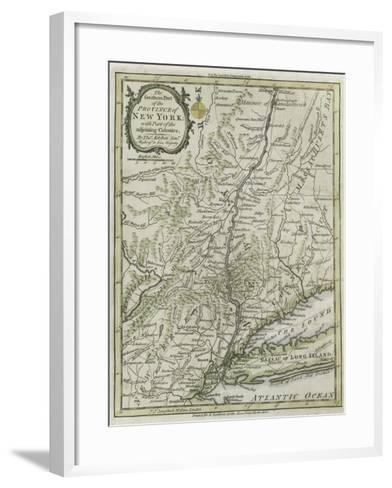 The Southern Part of the Province of New York, with Part of the Adjoining Colonies, 1778--Framed Art Print