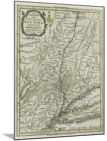 The Southern Part of the Province of New York, with Part of the Adjoining Colonies, 1778--Mounted Giclee Print