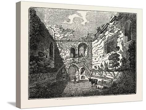 Apartments of Mary Queen of Scots in Tutbury Castle, Tutbury, Staffordshire, England, Uk--Stretched Canvas Print