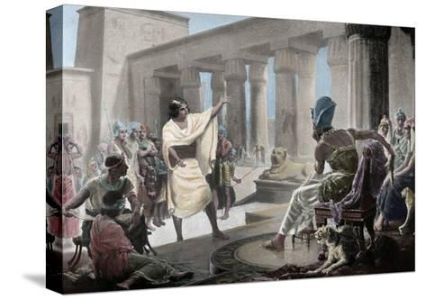 Joseph Interpreting the Pharaoh's Dream. Genesis 41:25-26. 19th Century. Coloured--Stretched Canvas Print
