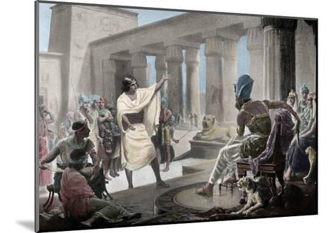 Joseph Interpreting the Pharaoh's Dream. Genesis 41:25-26. 19th Century. Coloured--Mounted Giclee Print