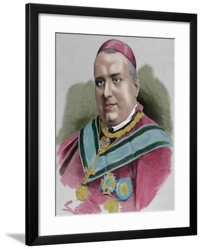 Joaquim Lluch I Garriga (1816-1882). Catholic Priest, Bishop and Cardinal Spanish--Framed Art Print