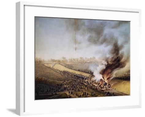 Train Crash in Bellevue, on Line Between Paris-Versailles, May 8, 1842, France, 19th Century--Framed Art Print