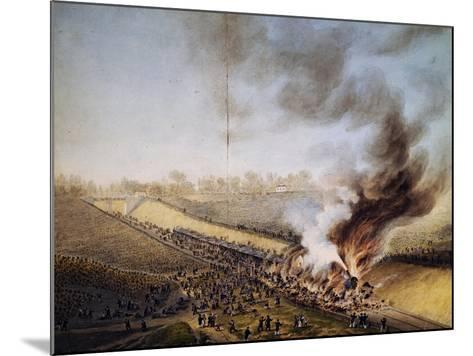 Train Crash in Bellevue, on Line Between Paris-Versailles, May 8, 1842, France, 19th Century--Mounted Giclee Print