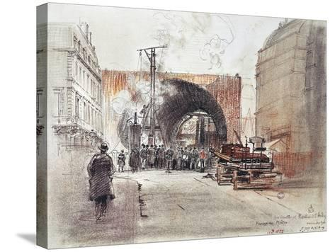 Works for Metro in Rue Danton and Boulevard Saint Andre in Paris, 1906, France, 20th Century--Stretched Canvas Print