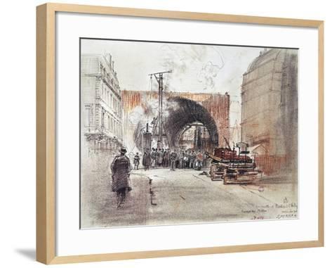 Works for Metro in Rue Danton and Boulevard Saint Andre in Paris, 1906, France, 20th Century--Framed Art Print