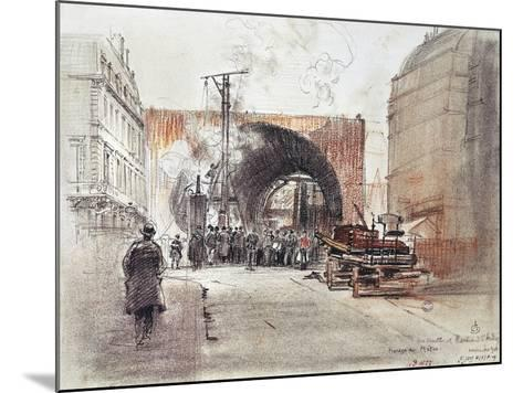 Works for Metro in Rue Danton and Boulevard Saint Andre in Paris, 1906, France, 20th Century--Mounted Giclee Print