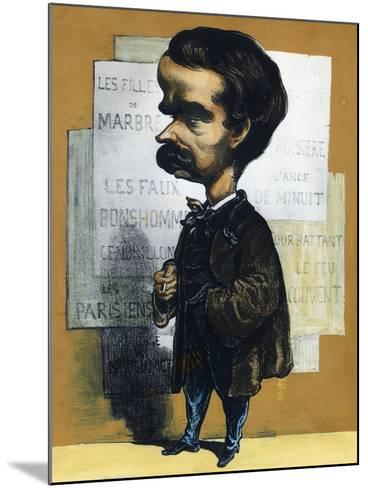 Caricature of Theodore Barriere (Paris, 1823 - Paris, 1877), French Dramatist--Mounted Giclee Print