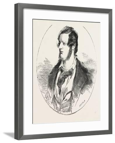 Mr. Herbert M.P. Mover of the Address to Her Majesty in the House of Commons 1854 London Uk--Framed Art Print