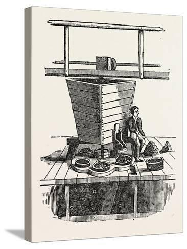 Jigging Machine. Jigging Is the Practice of Fishing with a Jig, a Type of Fishing Lure--Stretched Canvas Print