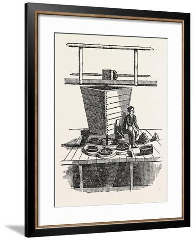 Jigging Machine. Jigging Is the Practice of Fishing with a Jig, a Type of Fishing Lure--Framed Art Print