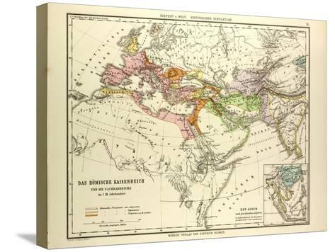 Map of the Roman Empire and its Neighbour Empires in the 1st 2nd and 3rd Centuries A.D--Stretched Canvas Print