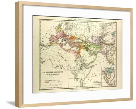 Map of the Roman Empire and its Neighbour Empires in the 1st 2nd and 3rd Centuries A.D--Framed Art Print