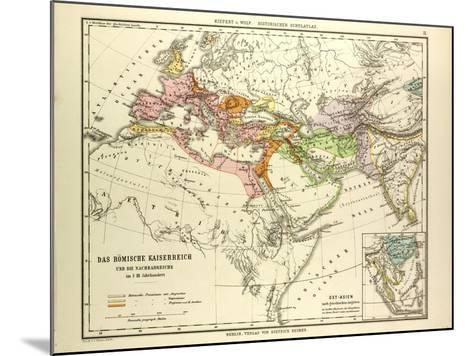 Map of the Roman Empire and its Neighbour Empires in the 1st 2nd and 3rd Centuries A.D--Mounted Giclee Print