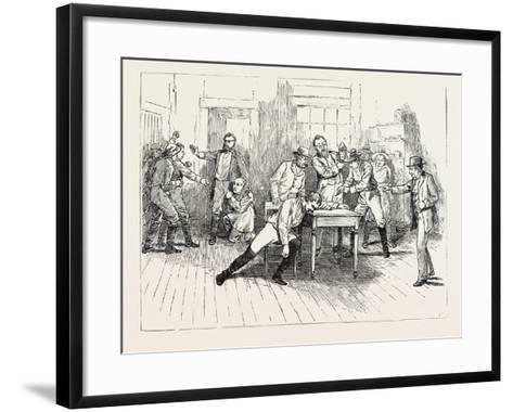 Scene from the Close of Act 1 of Aldrich and Parsloe's Successful Play My Partner Now Performing at--Framed Art Print