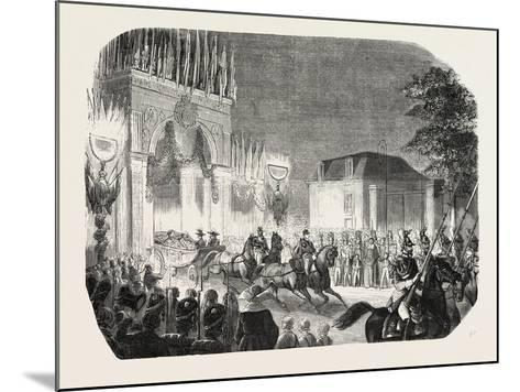 Arrival of the Queen of England at the Castle of Saint-Cloud, France. Queen Victoria. 1855--Mounted Giclee Print