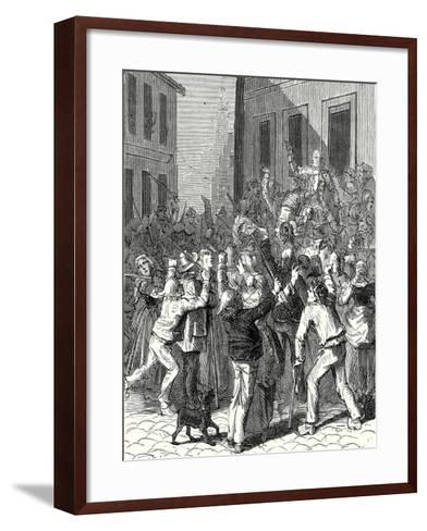 A Riot in Saint-Omer About the Establishment of a Lightning Rod on the House of De Boisvallé--Framed Art Print