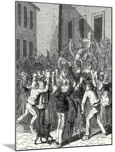 A Riot in Saint-Omer About the Establishment of a Lightning Rod on the House of De Boisvallé--Mounted Giclee Print