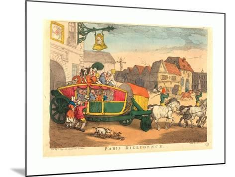 Thomas Rowlandson (British, 1756 1827), Paris Diligence, Probably 1810, Hand Colored Etching--Mounted Giclee Print