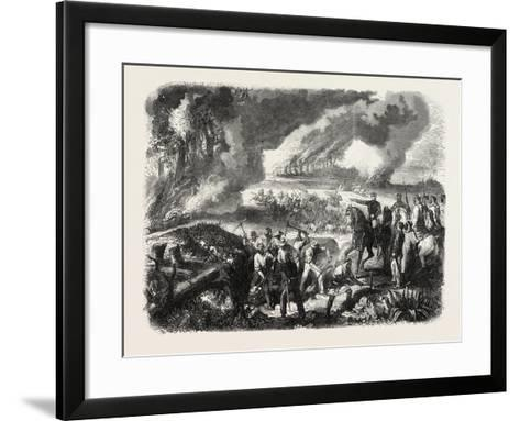 Burning of Cork-Tree Forests, in the District of Jemappes, Philipville, Algeria, 1865--Framed Art Print