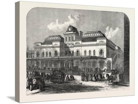 The City Terminus, in Liverpool Street, of the North London Railway, London, UK, 1865--Stretched Canvas Print