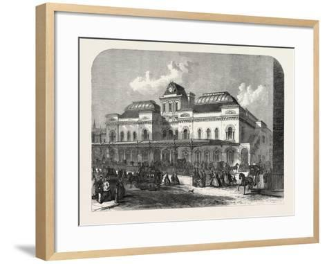 The City Terminus, in Liverpool Street, of the North London Railway, London, UK, 1865--Framed Art Print