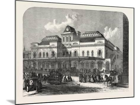 The City Terminus, in Liverpool Street, of the North London Railway, London, UK, 1865--Mounted Giclee Print