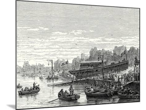 The 'Charles-Philippe' Launched on the Seine at Bercy by the Marquis De Jouffroy on 20 August 1816--Mounted Giclee Print
