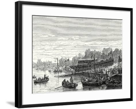 The 'Charles-Philippe' Launched on the Seine at Bercy by the Marquis De Jouffroy on 20 August 1816--Framed Art Print