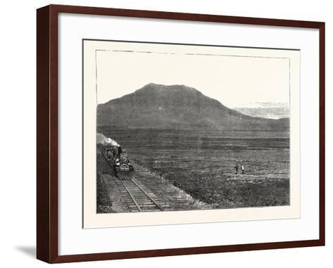 The Extension of the Natal Railway to Charlestown Majuba Hill: the Line at the Foot of Majuba Hill--Framed Art Print